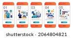 web design concept onboarding...   Shutterstock .eps vector #2064804821