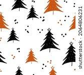 winter graphic seamless pattern ... | Shutterstock .eps vector #2064806231