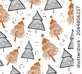 winter graphic seamless pattern ... | Shutterstock .eps vector #2064806237