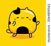 cute yellow cat mascot... | Shutterstock .eps vector #2064809561