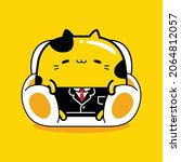 cute cat mascot character... | Shutterstock .eps vector #2064812057