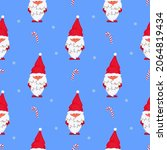 gnome with christmas lights.... | Shutterstock .eps vector #2064819434