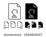 robot in production vector icon ...