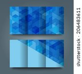 brochure template with abstract ... | Shutterstock . vector #206483611