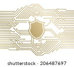 shield circuit background | Shutterstock .eps vector #206487697