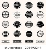 vector commercial stamps set in ... | Shutterstock .eps vector #206493244