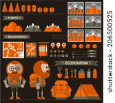 arrows,backpack,beard,book,bottle,characters,clouds,eco,ecology,equipment,euro,flashlight,fork,geologist,glasses