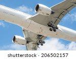 closeup of a large passenger...   Shutterstock . vector #206502157