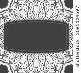 black brochure with luxurious...   Shutterstock .eps vector #2065124597