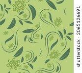 folk flowers print floral...   Shutterstock .eps vector #2065126691