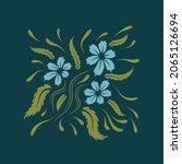 folk flowers floral art print...   Shutterstock .eps vector #2065126694