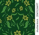 folk flowers print floral...   Shutterstock .eps vector #2065126697