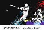 baseball player. baseball cap....   Shutterstock .eps vector #2065131134