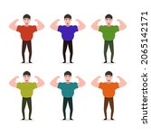 strong man illustrated on a...   Shutterstock .eps vector #2065142171