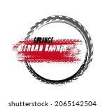 grunge off road circle stamp....   Shutterstock .eps vector #2065142504