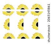 sunflowers set  sunflower...   Shutterstock .eps vector #2065145861