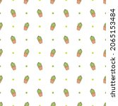 doodle cactuse seamless pattern ...   Shutterstock .eps vector #2065153484