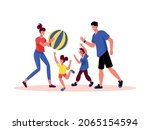 family active holidays...   Shutterstock .eps vector #2065154594