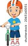 cute little boy cartoon with...   Shutterstock .eps vector #2065160051