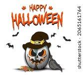 happy halloween. template rugby ...   Shutterstock .eps vector #2065161764