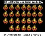 fire ba to bz letter logo and...   Shutterstock .eps vector #2065170491