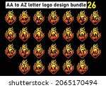 fire aa to az letter logo and...   Shutterstock .eps vector #2065170494