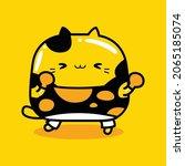cute cat character boxing...   Shutterstock .eps vector #2065185074