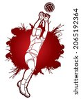 gaelic football player action...   Shutterstock .eps vector #2065192364