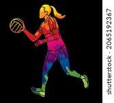 gaelic football player action...   Shutterstock .eps vector #2065192367