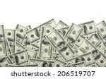 dollars | Shutterstock . vector #206519707