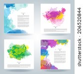 set of bright colorful vector... | Shutterstock .eps vector #206520844