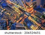 abstract topview on building ... | Shutterstock . vector #206524651