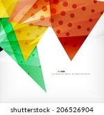 modern 3d glossy overlapping... | Shutterstock .eps vector #206526904