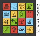 science. flat icons. | Shutterstock .eps vector #206527315