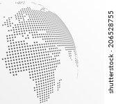 vector dotted globe | Shutterstock .eps vector #206528755