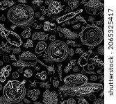 hummus hand drawn vector... | Shutterstock .eps vector #2065325417