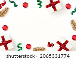 christmas flat lay background... | Shutterstock .eps vector #2065331774