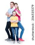 full portrait of happy...   Shutterstock . vector #206535379