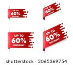 up to 60 percent discount. red... | Shutterstock .eps vector #2065369754