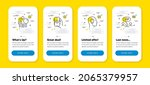 vector set of idea head  search ... | Shutterstock .eps vector #2065379957