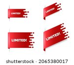 limited text. red ribbon tag... | Shutterstock .eps vector #2065380017