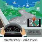 using navigator with modern... | Shutterstock .eps vector #206544901