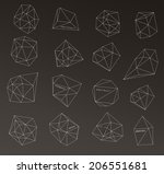 hipster cosmic bubble and label ...   Shutterstock . vector #206551681