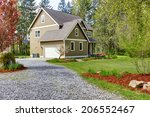countryside house exterior with ... | Shutterstock . vector #206552467
