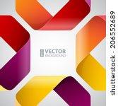 moebius origami colorful paper...   Shutterstock .eps vector #206552689