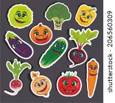 vector illustration of a funny... | Shutterstock .eps vector #206560309