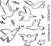 Flying Dove With Olive Branch....
