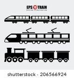 train design over gray... | Shutterstock .eps vector #206566924
