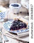 Blueberry  Bilberry Tart On A...