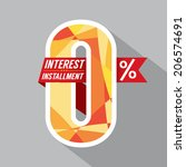 Zero Percent Interest Installment Vector Illustration